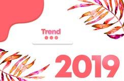Cor do ano 2019 Textura da borracha porosa colorida Cor elegante de uma estação de mola-verão 2019 Selva moderna do fundo ilustração do vetor