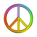 Cor do arco-íris do sinal do amor e de paz Fotos de Stock Royalty Free