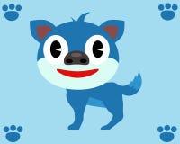 Cor do azul do cão pequeno Imagens de Stock Royalty Free