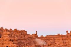 Cor do céu do deserto Fotos de Stock
