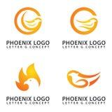 Cor do falcão/do fogo conceito de Phoenix Logo Letter G ilustração royalty free