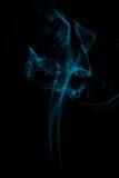 A cor do fumo no preto Imagens de Stock Royalty Free