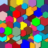 A cor do fundo do polígono Fotografia de Stock