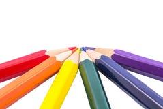 Cor do lápis foto de stock