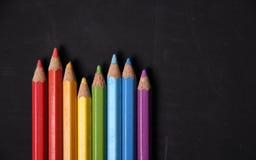 Cor do lápis do arco-íris Foto de Stock