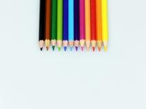 Cor do lápis isolada no fundo branco imagem de stock