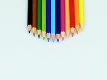 Cor do lápis isolada no fundo branco imagens de stock