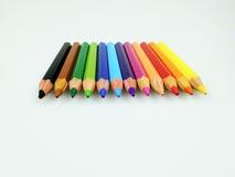 Cor do lápis isolada no fundo branco imagens de stock royalty free