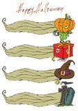 Cor do menu de Dia das Bruxas do molde Imagens de Stock Royalty Free