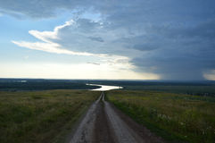 Cor do país do curso da paisagem da estrada Imagens de Stock