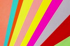 A cor do papel a geometria de um fundo liso da composição em tons coloridos Foto de Stock Royalty Free