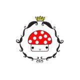 Cor do rei do cogumelo ilustração royalty free