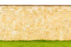 Cor do teste padrão da pedra real da cerca decorativa moderna do projeto do estilo Fotografia de Stock