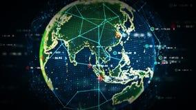 Cor dos dados do mundo de Digitas