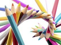 Cor dos lápis Imagem de Stock