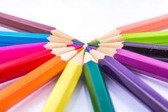 Cor dos lápis imagens de stock