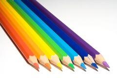 Cor dos lápis Fotos de Stock Royalty Free