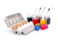 Cor dos ovos de Easter fotos de stock