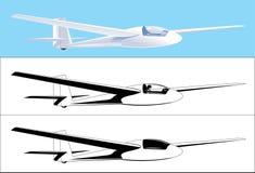 Cor e preto do planador Foto de Stock Royalty Free