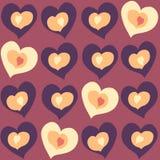 cor e tamanho diferentes dos corações nos corações a outra cor e tamanho Fotografia de Stock Royalty Free