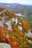 Cor em mudança das folhas na montanha de Whiteside foto de stock royalty free