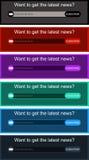 A cor forma a caixa do boletim de notícias no vetor Fotos de Stock Royalty Free