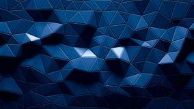Cor geométrica poligonal abstrata do azul do fundo Imagens de Stock Royalty Free