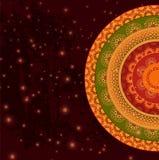 Cor Henna Mandala Background ilustração stock