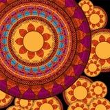 Cor Henna Mandala Background ilustração royalty free