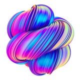 A cor holográfica na moda abstrata torceu o elemento do projeto da forma ilustração do vetor