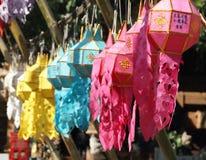 A cor ilumina a decoração Fotos de Stock