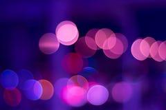 A cor ilumina o bokeh imagem de stock