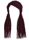 Cor longa na moda do rosa do opper do  dos cornrows Ñ do cabelo graphi realístico Imagem de Stock