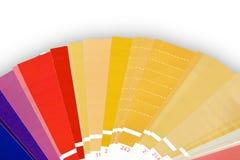 A cor metálica foils swatches Imagens de Stock Royalty Free