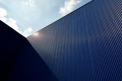 Cor ondulada do azul da folha de metal Imagem de Stock Royalty Free