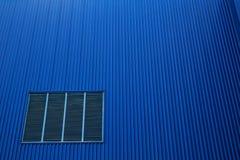 Cor ondulada do azul da folha de metal Fotografia de Stock