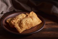 Cor pastel brasileira do alimento homemade Darkphoto imagem de stock