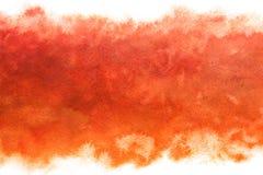 A cor pastel coloriu o sumário do céu do nascer do sol no fundo vermelho da pintura da aquarela do vintage ilustração royalty free