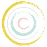 Cor pastel da escova dos círculos Foto de Stock Royalty Free