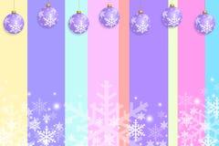 Cor pastel do projeto do molde do cartão do Natal Imagens de Stock