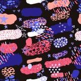 A cor pastel na moda rabisca o teste padrão Sumário ilustração do vetor