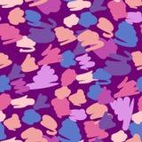 A cor pastel na moda rabisca o teste padrão Sumário ilustração stock