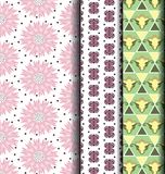 Cor pastel retro do estilo do teste padrão geométrico Imagem de Stock Royalty Free