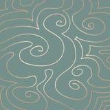 A cor pastel roda teste padrão em Duck Egg Blue ilustração stock