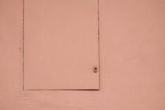Cor pastel Salmon portal e parede pintados Imagem de Stock