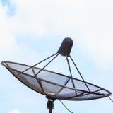 Cor preta da antena parabólica Imagem de Stock Royalty Free