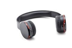 Cor preta do fones de ouvido Fotos de Stock Royalty Free