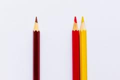 Cor que mistura, lápis Fotografia de Stock Royalty Free