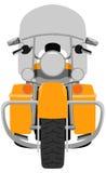 Cor que visita a ilustração isolada motocicleta do vetor ilustração do vetor