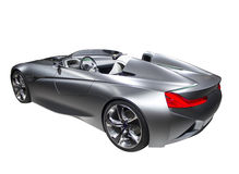 Cor rápida da prata do carro desportivo do modelo novo isolada Imagem de Stock